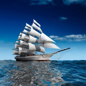 Dokąd żegluje twójbiznes? - żaglowiec napełnym morzu